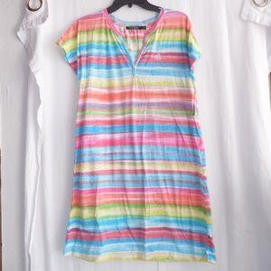 Lauren Ralph Lauren Cotton Striped Sleepshirt XS S